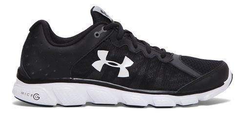 Mens Under Armour Micro G Assert 6 Running Shoe - Black 7.5