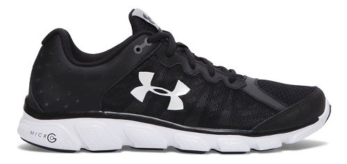 Mens Under Armour Micro G Assert 6  Running Shoe - Black 8