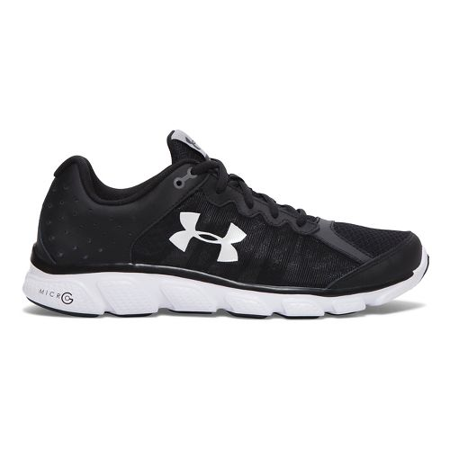 Mens Under Armour Micro G Assert 6 Running Shoe - Black 7