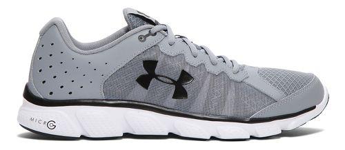 Mens Under Armour Micro G Assert 6  Running Shoe - Steel/White 10.5