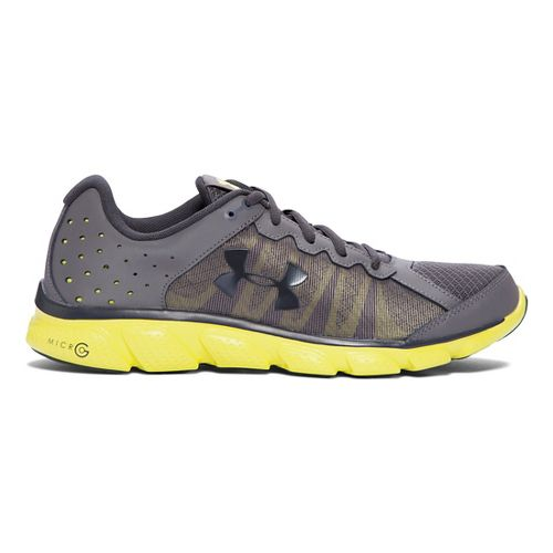 Mens Under Armour Micro G Assert 6 Running Shoe - Graphite/Flash Light 10