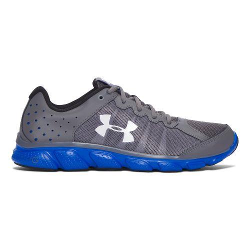 Mens Under Armour Micro G Assert 6  Running Shoe - Grey/Blue 9