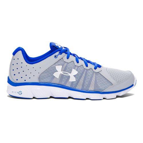 Mens Under Armour Micro G Assert 6 Running Shoe - Grey/Ultra Blue 8