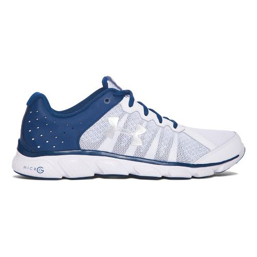 Mens Under Armour Micro G Assert 6  Running Shoe - White/Navy 11