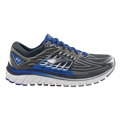 Mens Brooks Glycerin 14 Running Shoe - Anthracite/Blue 7