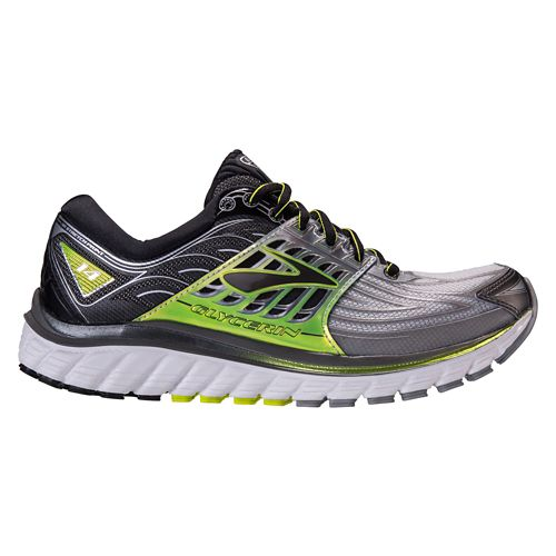 Mens Brooks Glycerin 14 Running Shoe - Silver/Lime 7.5