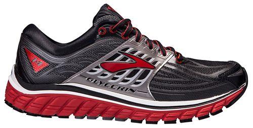 Mens Brooks Glycerin 14 Running Shoe - Black/Red 12.5