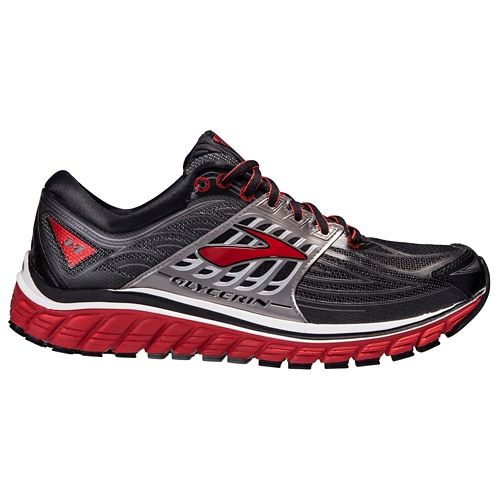 Mens Brooks Glycerin 14 Running Shoe - Black/Red 11.5