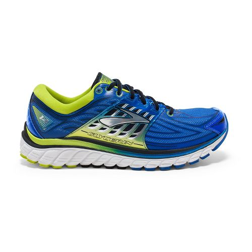 Mens Brooks Glycerin 14 Running Shoe - Anthracite/Blue 13