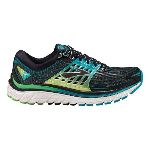 Womens Brooks Glycerin 14 Running Shoe - Black/Blue 8