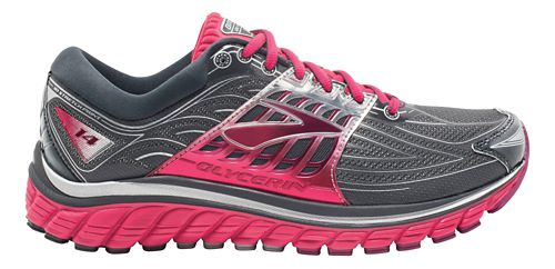 Womens Brooks Glycerin 14 Running Shoe - Anthracite/Pink 10.5