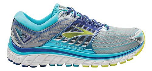 Womens Brooks Glycerin 14 Running Shoe - Silver/Blue 6