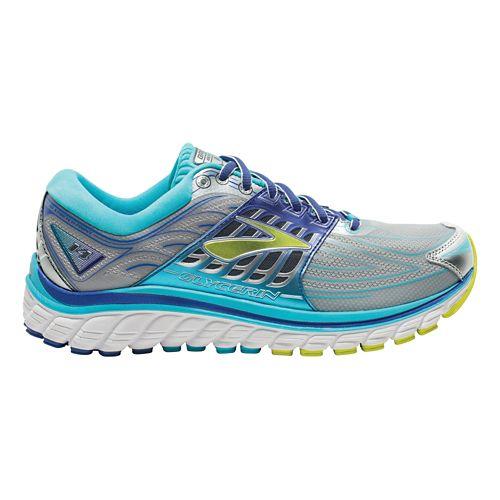 Womens Brooks Glycerin 14 Running Shoe - Silver/Blue 10.5