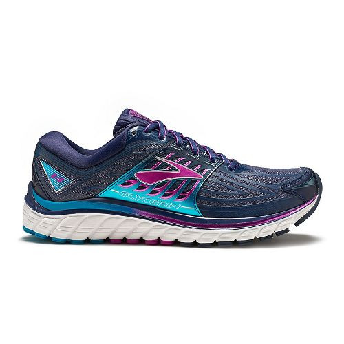 Womens Brooks Glycerin 14 Running Shoe - Peacoat Navy/Purple 7.5