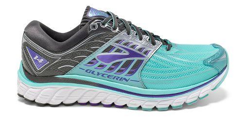 Womens Brooks Glycerin 14 Running Shoe - Blue/Anthracite 5.5