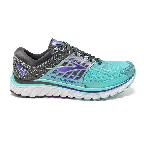 Womens Brooks Glycerin 14 Running Shoe - Blue/Anthracite 10.5