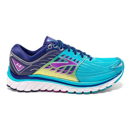 Womens Brooks Glycerin 14 Running Shoe - Scuba Blue/Navy Blue 7