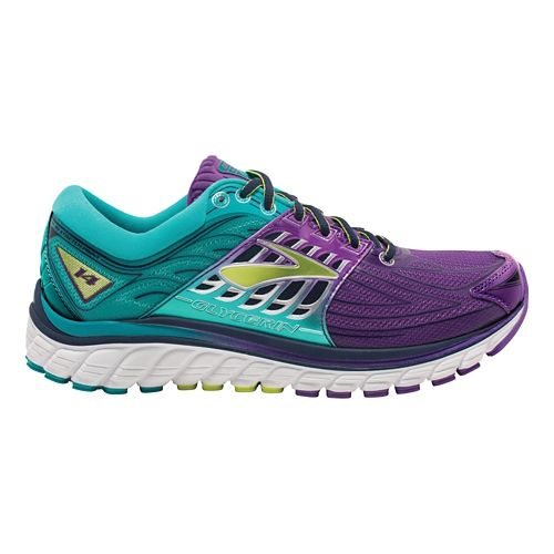 Womens Brooks Glycerin 14 Running Shoe - Purple/Teal 5