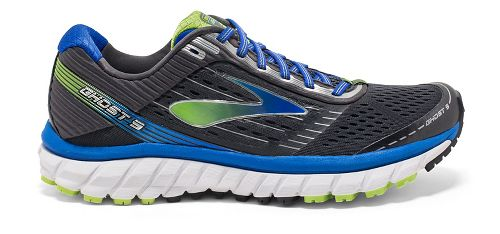 Mens Brooks Ghost 9 Running Shoe - Anthracite/Blue 8