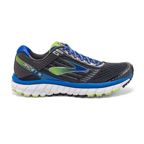 Mens Brooks Ghost 9 Running Shoe - Anthracite/Blue 9.5