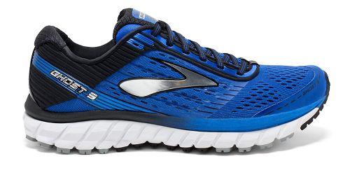 Mens Brooks Ghost 9 Running Shoe - Blue/Black 8