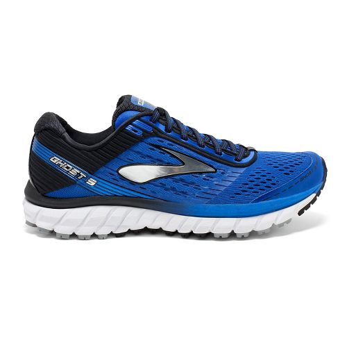 Mens Brooks Ghost 9 Running Shoe - Blue/Black 8