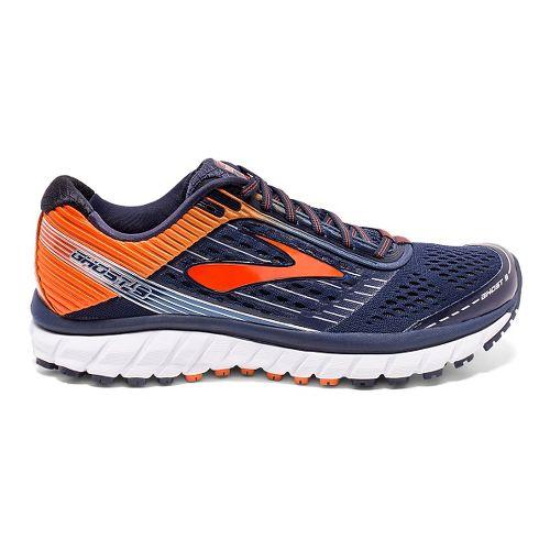 Mens Brooks Ghost 9 Running Shoe - Navy/Orange 10.5