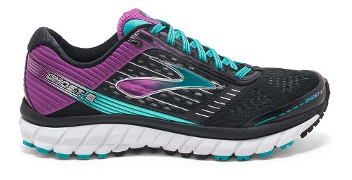 Womens Brooks Ghost 9 Running Shoe - Black/Purple 7