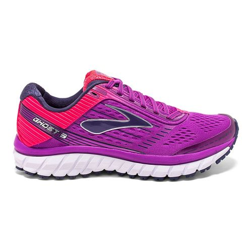 Womens Brooks Ghost 9 Running Shoe - Purple Cactus Flower 6.5
