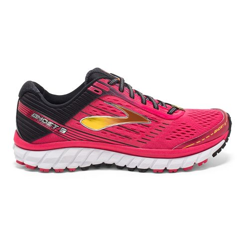 Womens Brooks Ghost 9 Running Shoe - Pink/Black 7