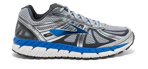 Mens Brooks Beast 16 Running Shoe - Silver/Blue 8.5