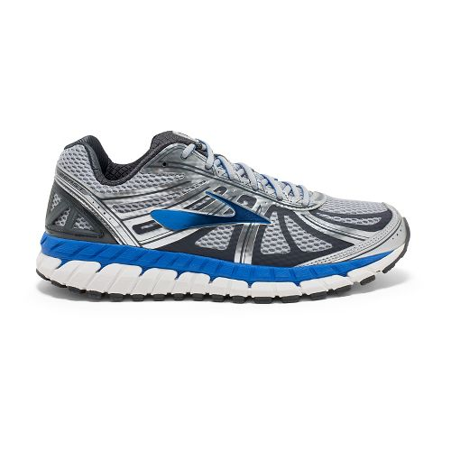 Mens Brooks Beast 16 Running Shoe - Silver/Blue 16