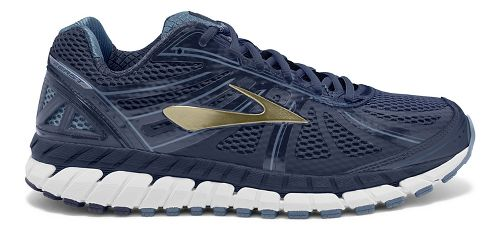 Mens Brooks Beast 16 Running Shoe - Navy/Gold 9.5