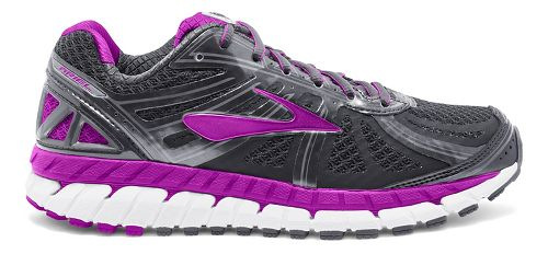 Womens Brooks Ariel 16 Running Shoe - Anthracite/Purple 8