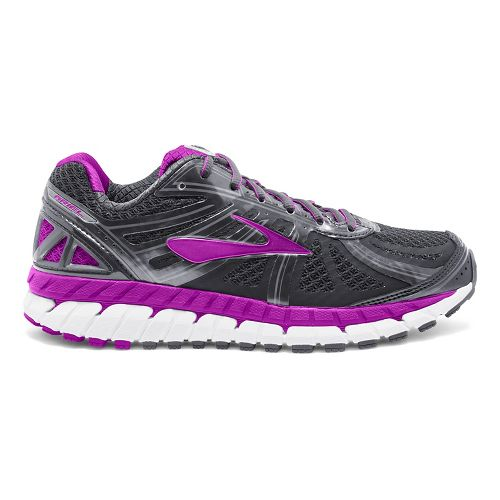 Womens Brooks Ariel 16 Running Shoe - Anthracite/Purple 9