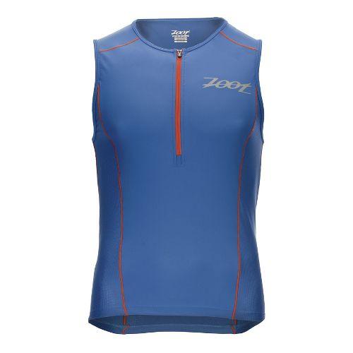 Mens Zoot Active Tri Mesh Sleeveless & Tank Technical Tops - Vivid Blue L