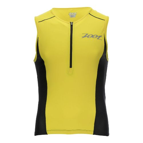 Mens Zoot Active Tri Mesh Sleeveless & Tank Technical Tops - Yellow/Black M