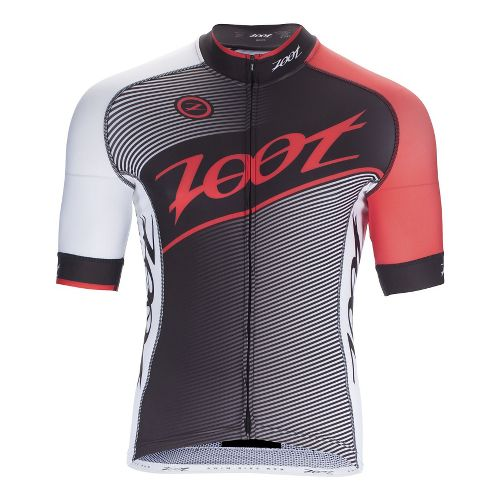 Mens Zoot Cycle Team Jersey Short Sleeve Technical Tops - Black/Race Day Red XL