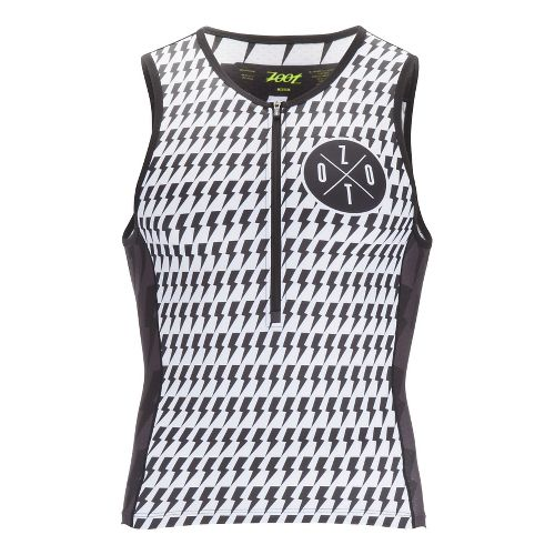 Mens Zoot Tri LTD Sleeveless & Tank Technical Tops - White/Safety Yellow S