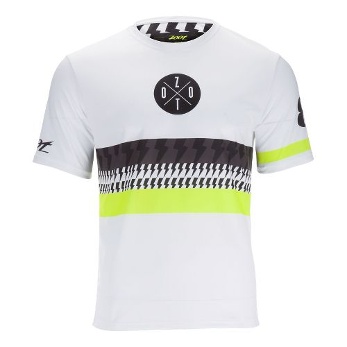 Mens Zoot Run LTD Tee Short Sleeve Technical Tops - White/Safety Yellow S