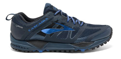Mens Brooks Cascadia 11 GTX Trail Running Shoe - Navy/Blue 11.5