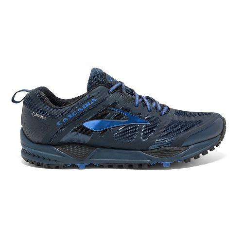 Mens Brooks Cascadia 11 GTX Trail Running Shoe - Navy/Blue 13