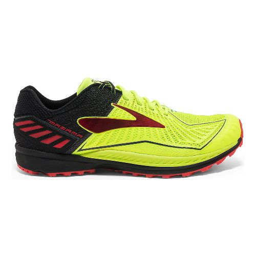 Mens Brooks Mazama Trail Running Shoe - Neon/Black 12