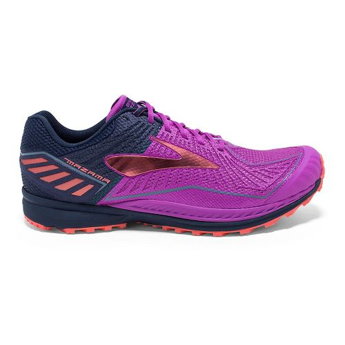 Womens Brooks Mazama Trail Running Shoe - Purple Cactus Flower 6