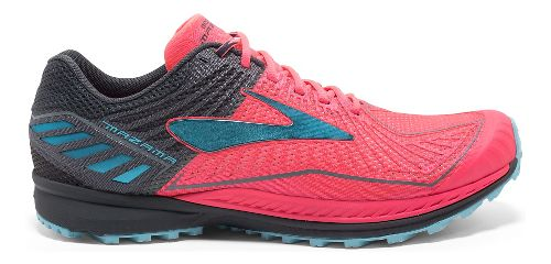 Womens Brooks Mazama Trail Running Shoe - Pink/Anthracite 8.5