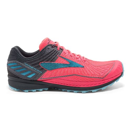 Womens Brooks Mazama Trail Running Shoe - Pink/Anthracite 7.5