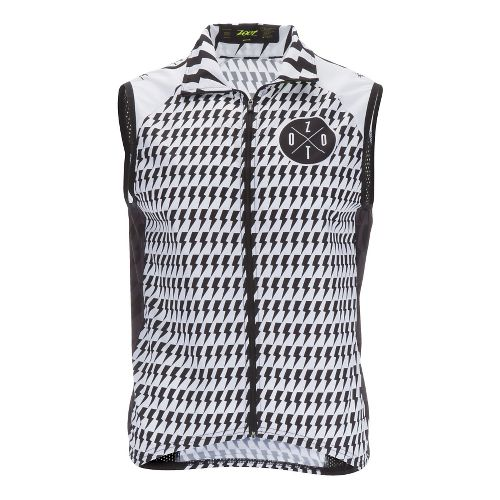 Mens Zoot Cycle LTD Wind Vests Jackets - White/Safety Yellow M