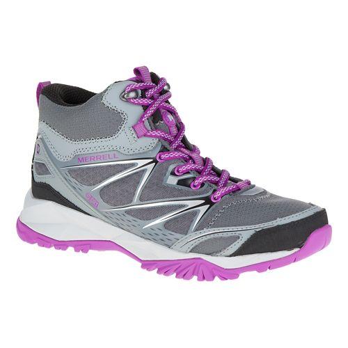 Womens Merrell Capra Bolt Mid Waterproof Hiking Shoe - Grey 7