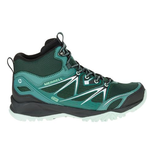 Womens Merrell Capra Bolt Mid Waterproof Hiking Shoe - Pine Grove 10