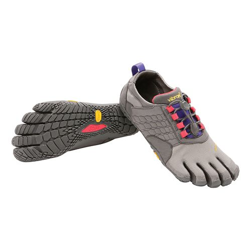 Womens Vibram FiveFingers Trek Ascent Trail Running Shoe - Grey/Lilac 37